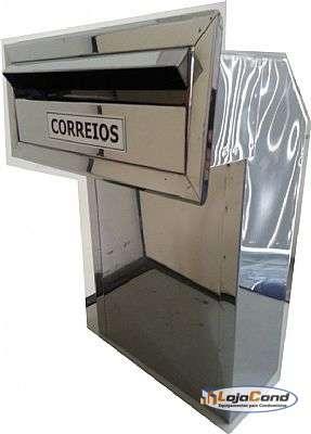 Caixa-de-correio-Inox-Modelo-L-com-Aba-de-Acabamento-par- muro