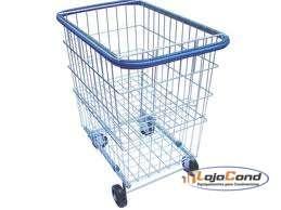 Carrinho de compras c/ repartição lateral – 215 litros