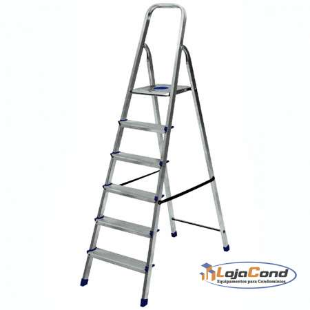 Escada de alumínio 6 degraus