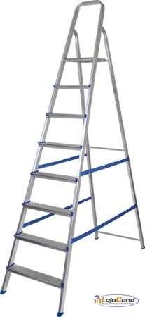 Escada de alumínio 8 degraus