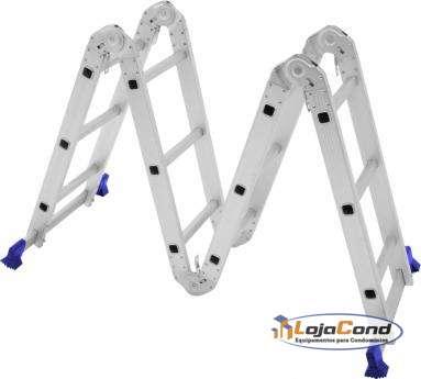 Escada multifuncional 12 degraus várias posições