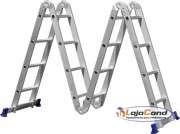 Escada multifuncional 16 degraus várias posições