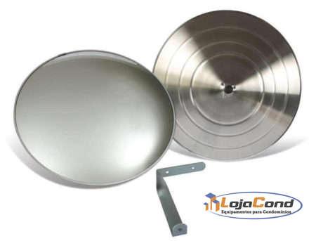 Espelho convexo panorâmico - acabamento alumínio