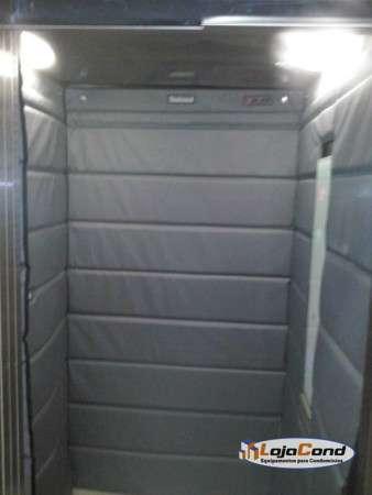 capa, protetor, acolchoado de elevador